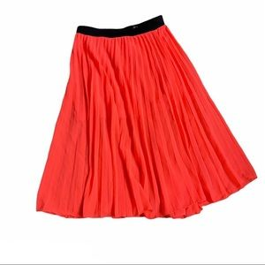 DIVIDED BY H&M pleated chiffon coral maxi skirt